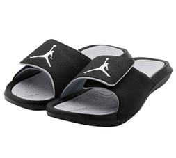 New Nike Jordan Hydro VI 6 881473-011 Black Slippers Sandals