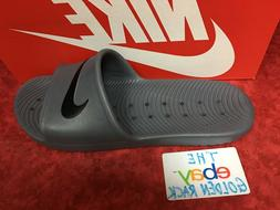 New Nike Kawa Shower 832528-010 Gray Black Slippers Men SZ 7