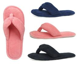New Ladies' Terry Spa House Slipper Fashion Thong Flip Flop