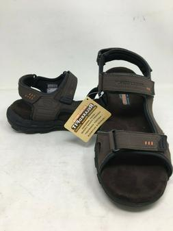 NEW! Skechers Men's RELAXED FIT CONNER LOUDEN Brown Sandals