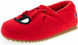 NEW MEN'S CHAMPION UNIVERSITY SLIPPERS RED SLIP ON SIZE 12 C