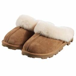 NEW Kirkland Signature Women's Chestnut Ladies Sheepskin She