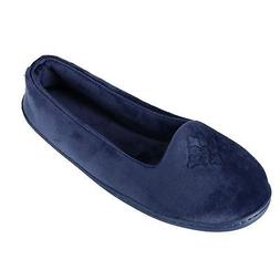 New Dearfoams Women's Microfiber Velour Closed Back Slippers