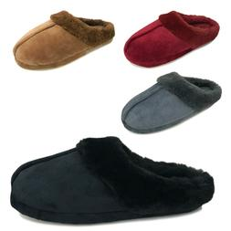 NEW Women's Soft Round Toe Slippers Warm Fuzzy Faux Fur Trim