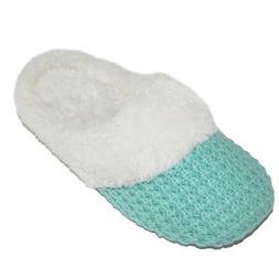 New Dearfoams Women's Sweater Knit Closed Toe Scuff Slippers