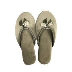NEW DEARFOAMS WOMEN'S MICROFIBER VELOUR SLIPPERS