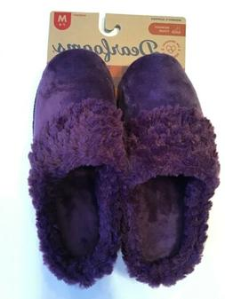 New Dearfoams Womens Velour Slipper Medium 7 8 Purple Memory