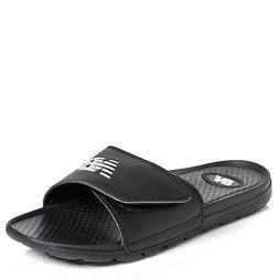 nwt men athletic slides sandals slippers black