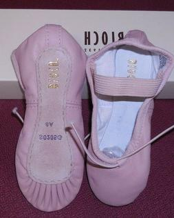 nwt pink leather full sole ballet shoes