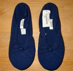 NWT WOMEN'S NAVY BLUE BALLET SLIPPERS FROM SOMA SIZE SMALL