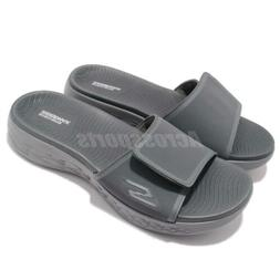 Skechers On-The-Go 600-Regal Charcoal Grey Men Sandal Slides