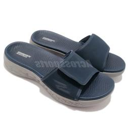 Skechers On-The-Go 600-Regal Navy Grey Men Sandal Slides Sli