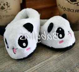 Panda Slippers Bear Plush Soft Warm Winter Shoes Fluffy Unis