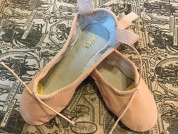 Bloch Pink Leather Split Sole Ballet Slippers Women's 7B