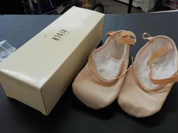 Bloch Pump Canvas Ballet Slippers Pink Flat S0277L Split Sol