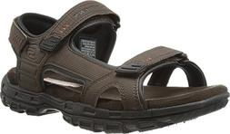 Skechers Men's Relaxed Fit Conner Louden Sandal,Brown,US 13