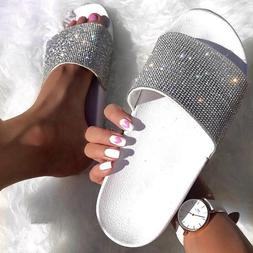 Rhinestone Women Slippers Flip Flops Summer <font><b>Slides<