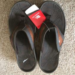 New Balance Rock & Tone Brown Walking Thong Slippers Sandals