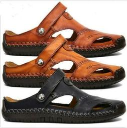 Size 7-13 Mens Brown Leather Safety Closed Toe Outdoors Sand