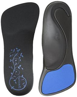 SlenderFit Fashion Orthotic-W, Black/Black, Women's 8 - 9