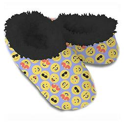 Snoozies Women's Hip Slippers, Emoji - Large