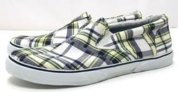 Sperry Top-Sider Mens 13 Halyard Green Plaid Slip on Boat Sh