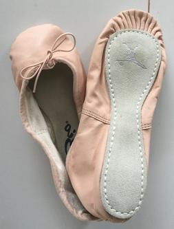 Capezio Teknik #200 New Pink Leather Ballet Slippers Adult S