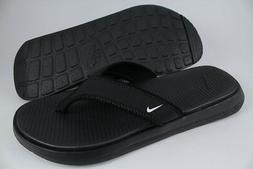 NIKE ULTRA CELSO THONG BLACK/WHITE FLIP FLOPS SANDALS SLIDES