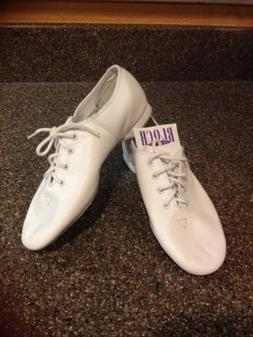 Bloch White Jazz Shoes Lace Up Slippers Size 1.5 Girls Youth
