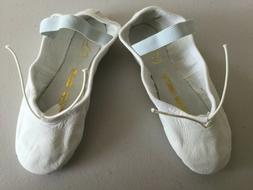 Bloch White Leather Full Sole Ballet Slippers Girls Size 12C