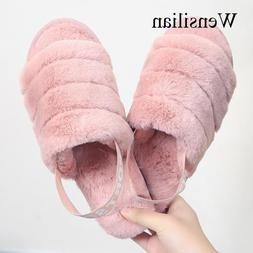 Winter <font><b>Slippers</b></font> Women Fur <font><b>Slide