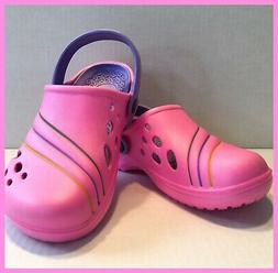Womans girls clogs pink crocs type soft feel anti slip on sa