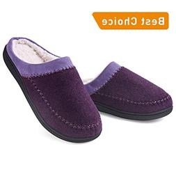 Women Comfort House Slippers, Two-Tone Lady Slip On Indoor S