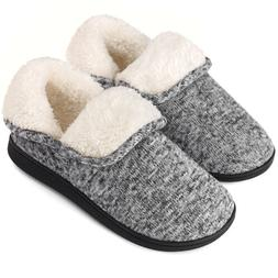 VONMAY Women's Fuzzy Bootie Slippers Memory Foam Ankle High