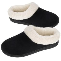 VONMAY Women's Cozy Memory Foam Slippers Wool-Like Plush Com