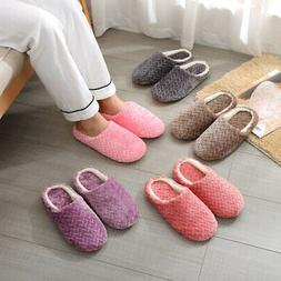 ladies womens memory foam slippers house shoes