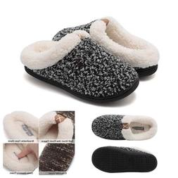 Women Men Plush Thicken Slippers Warm Flats Home Flip Flops