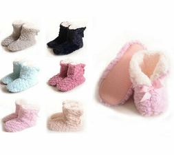 Women's Booties Slippers Fold Over Cuff Sherpa Fleece Lined
