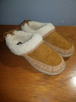 CLARKS Women's Faux Shearling Clog Slippers Size 5