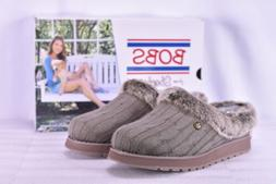 Women's Skechers Bobs Keepsakes- Ice Angel Slippers Taupe