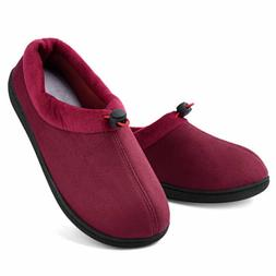 Women's Memory Foam Micro Suede Moccasin Slippers Adjustable