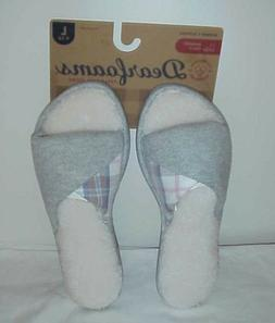 Women's Dearfoams Memory Foam Slippers, Size L  New Gray