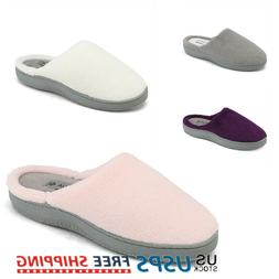 Women's Memory Foam Slippers Slip On Indoor Outdoor House Co
