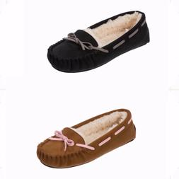 Dearfoams Women's Microsuede Moccasin Slipper