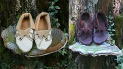 Men's Moccasin Handmade size 8 Native American Plains Style