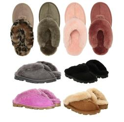 UGG Women's Shoes Coquette Soft Cozy Slippers Sandals Black