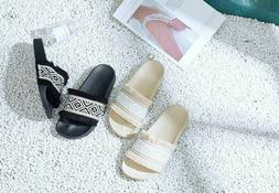 Women's Slides Woven Slide Slippers