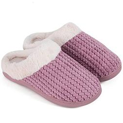 Women's Slippers Comfort Memory Foam Coral Fleece Slippers P