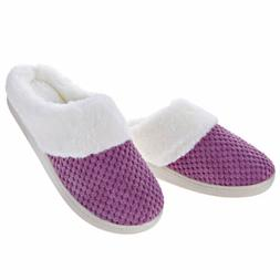 Women's Slippers Slip On House Shoes Fleece Fuzzy Plush Lini