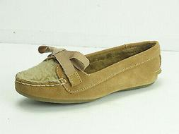 Women's Sperry Top-Sider Skipper Slippers Cognac Suede/Fur S